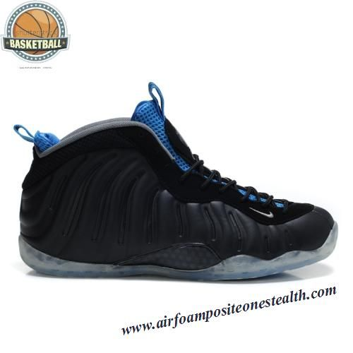 Nike Air Foamposite One Black Varsity Royal Men\u0027s Basketball Shoes