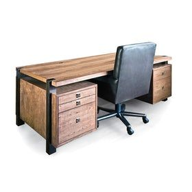 Mezzanine Executive Desk Contemporary, MidCentury Modern, Wood, Desks Writing Table by Knowlton Brothers