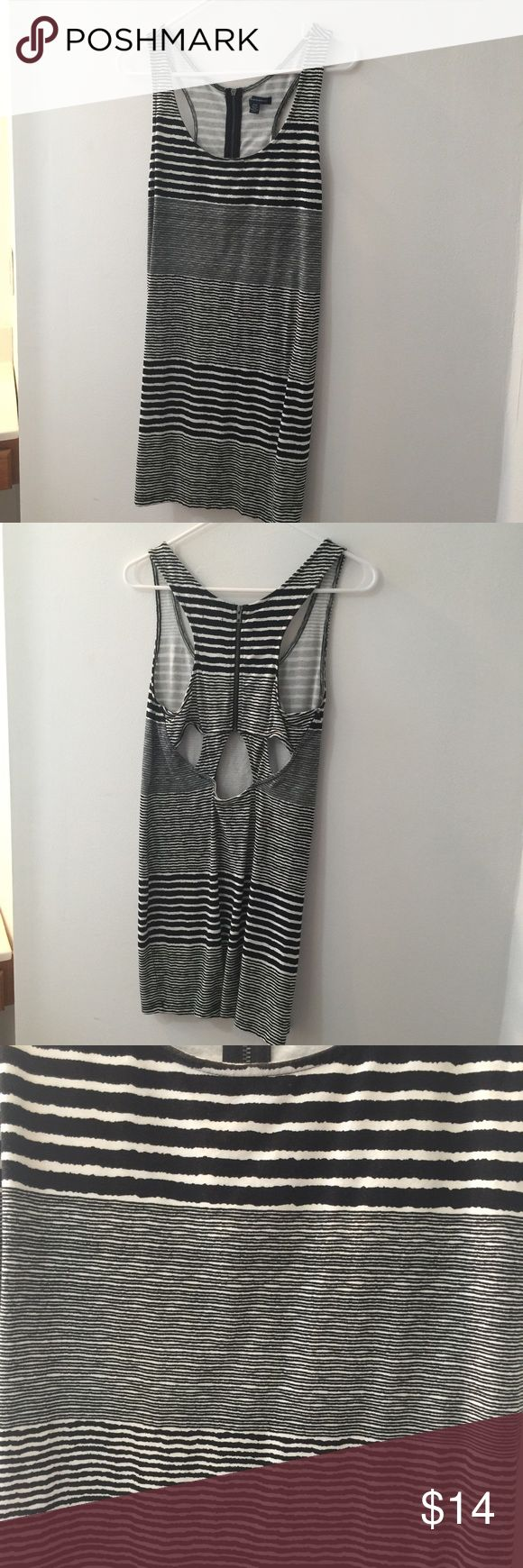 Americn Eagle Racerback Striped Bodycon Mini Dress Has only been worn once, it's like new. It's a size medium. There's a zipper in the back. There are also cut outs in the back. This would pair perfectly with a choker and converse! I do not trade or hold items. American Eagle Outfitters Dresses Mini