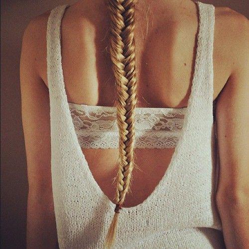 braid: Fish Tail, Hairstyles, Hair Colors, Headband, Summer Style, Long Hair, Longhair, White Lace, Fishtail Braids