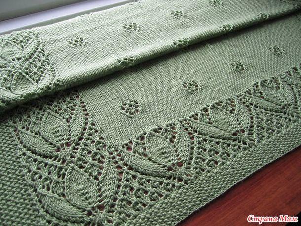 Coperta verde . - Knitting - Paese Mamma