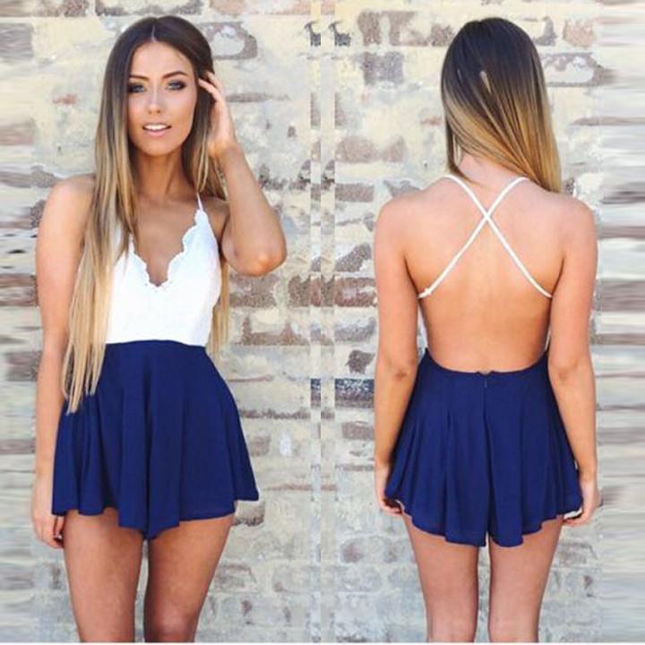 5a36bd12fa Backless Deep V-neck Halter Sleeveless Sexy Jumpsuit #shopaholic #girlstyle  #womenstyle #streetstyle #dresslover #fashionstyle #model #girlfashion ...