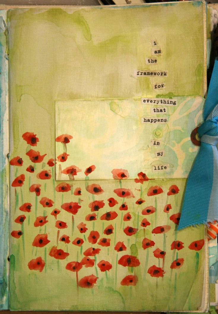 poppies #love the free form poppies by Donna Downey#