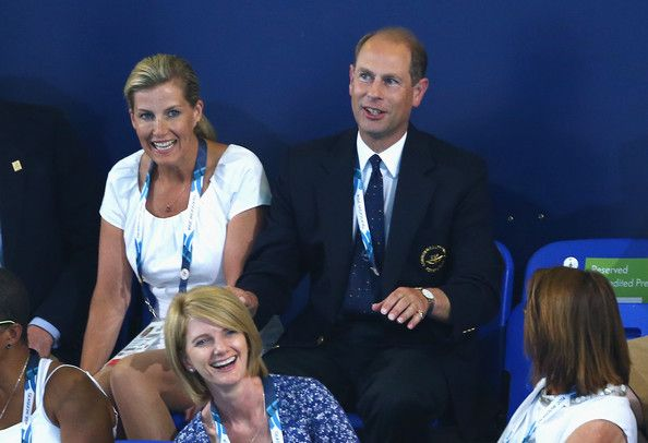 Prince Edward, Earl of Wessex and Sophie, Countess of Wessex attend the evening session at Tollcross International Swimming Centre during day two of the Glasgow 2014 Commonwealth Games on July 25, 2014 in Glasgow, Scotland. - Zimbio