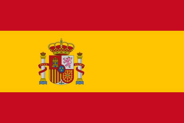 Vessels sailing under the Spain Country Flag are required to have on board this flag as part of flag state requirements that derive from maritime regulations in the International Code of Signals and t