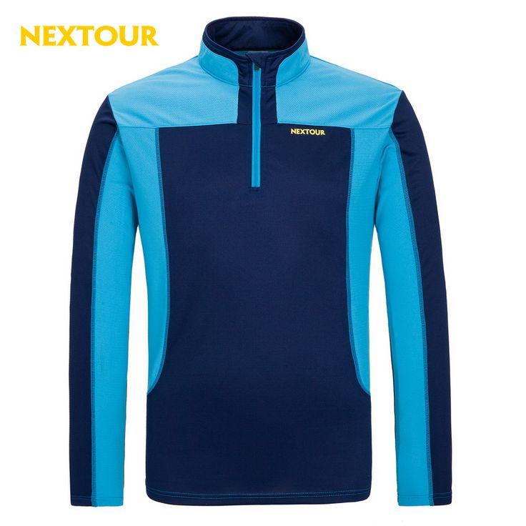 NEXTOUR Summer Men Quick dry T-shirt Male Outdoor Tees long sleeve Tshirt Sport Breathable Soft Fabric hiking trekking