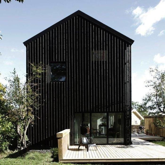 44 besten holzfassade schwarz bilder auf pinterest. Black Bedroom Furniture Sets. Home Design Ideas