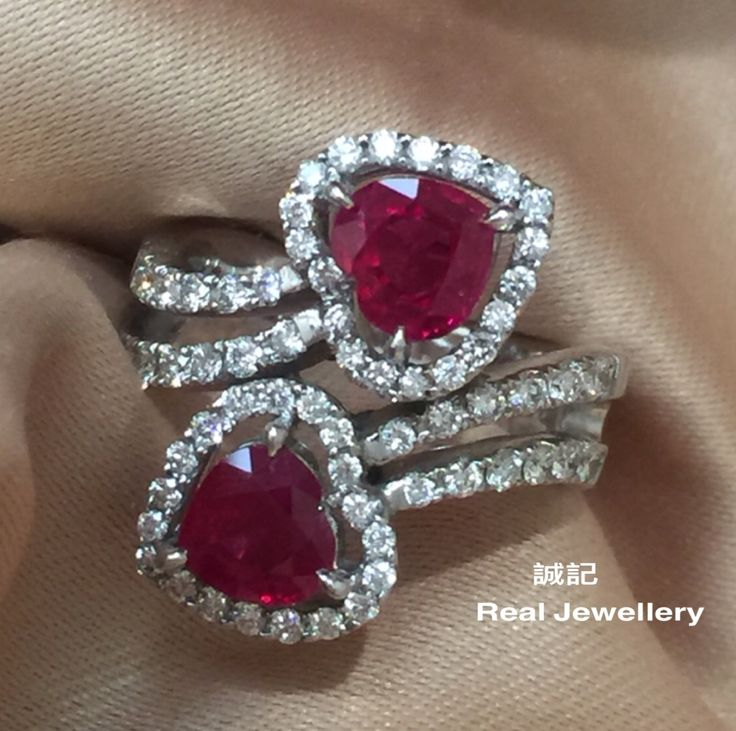 Burma ruby and diamonds ring。誠記 Real Jewellery。