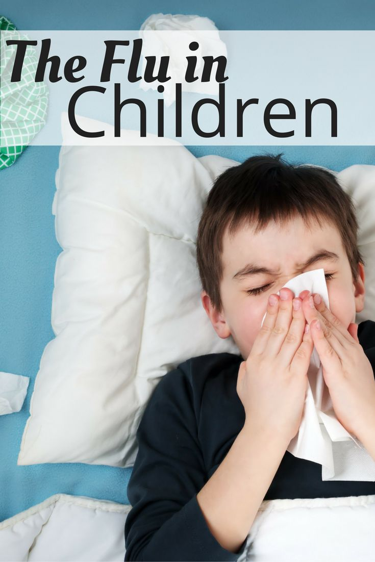 The flu (influenza) is caused by a virus that's easy to spread, especially among kids in school or daycare. A child's immune system is not as well developed as an adult's. This means the flu can make children very sick. Also, children in daycare or school are very likely to bring the virus home to other family members.