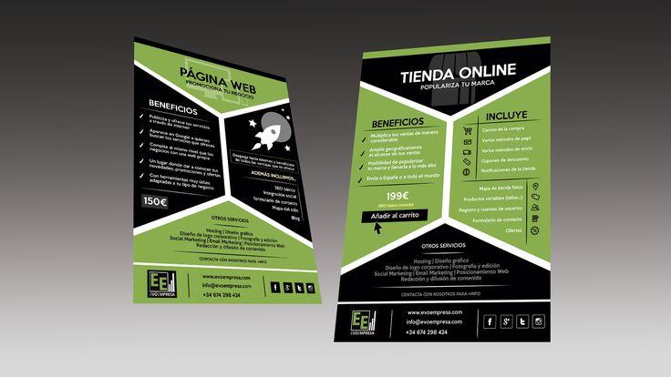 Diseño de nuestro flyer promocional - Evoempresa
