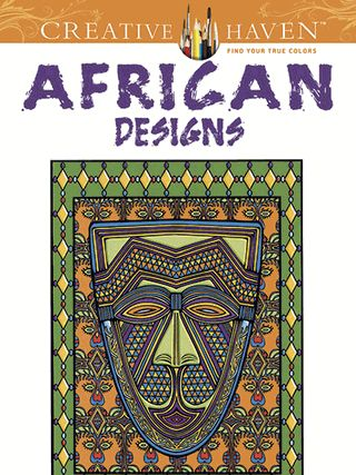 Carefully rendered from authentic artifacts, 31 sophisticated illustrations include a Moorish textile pattern, an Ashanti carved door panel, and more. Illustrations are printed on only one side of the perforated pages for easy removal and display. Previously published as  African Designs Coloring Book .