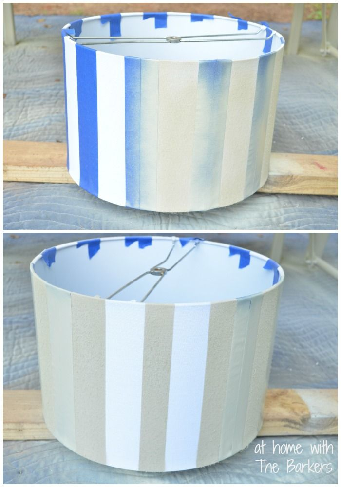 Spray Painted Lamp Shade-Painting