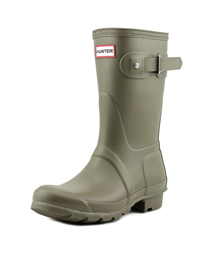 HUNTER Hunter Original Short Wellies Women  Round Toe Synthetic Green Rain Boot'. #hunter #shoes #boots & booties
