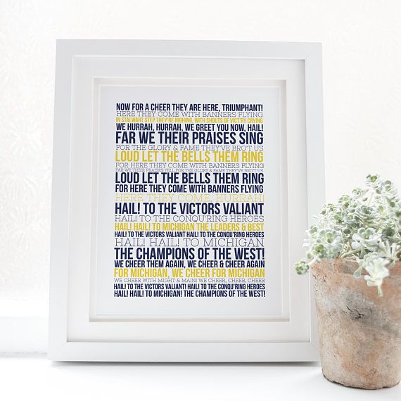 Michigan Fight Song  Typography  Go Blue  The Victors