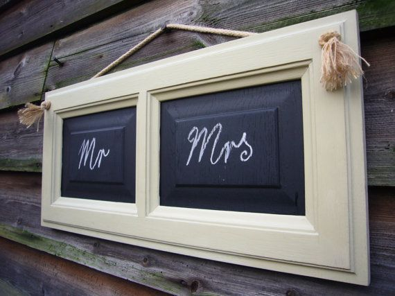 Double Chalkboard - Framed Chalkboard - Mr and Mrs Decor - Rustic Chalkboard - Hanging Blackboard - Pale Green Sign - Wedding Blackboard UK  A lovely