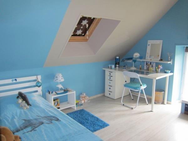 Id e chambre gar on bleu blanc d coration chambre - Idees peinture chambre adulte ...