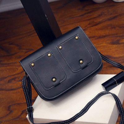 ¥19.90 = S$4    2016夏季新款潮女包韩版复古油皮双兜小方包单肩背包手提包-淘宝网