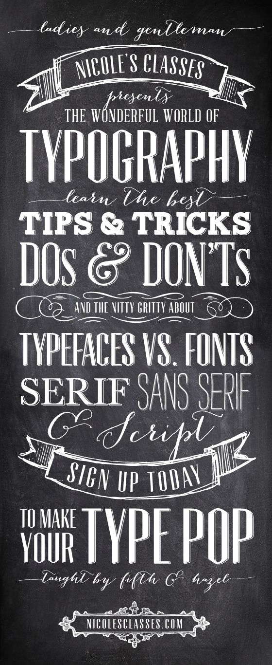 Typography class on sale @Nicole's Classes!