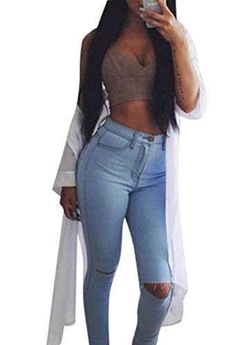 New Trending Denim: Creabygirls Womens Knee Ripped Hole High Waist Denim Jeans Pants (XX-Large, Blue). Creabygirls Women's Knee Ripped Hole High Waist Denim Jeans Pants (XX-Large, Blue)   Special Offer: $19.50      433 Reviews About Creabygirls: Fashion, sexy, high quality but affordable is Creabygirls slogan. From Creabygirls you will see the latest and cool design of the season. No...