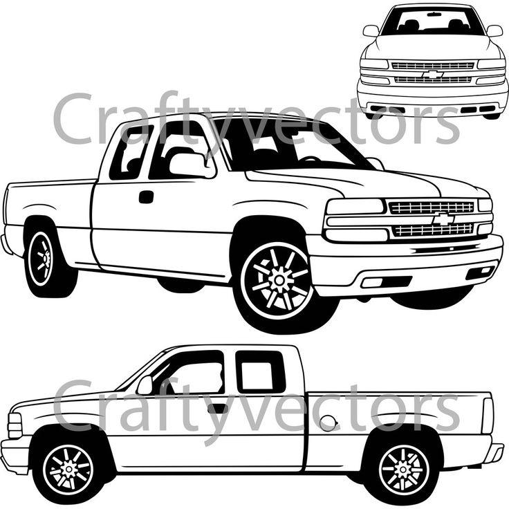 Chevrolet Silverado 2000 Vector in 2020 Silverado 2000
