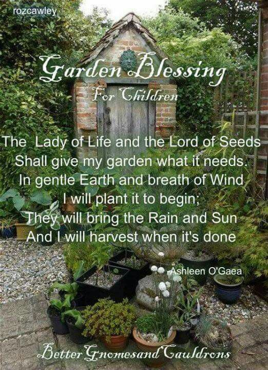Garden Blessing for Children by Ashleen O'Gaea
