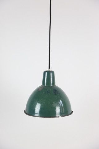 Green industrial lamp
