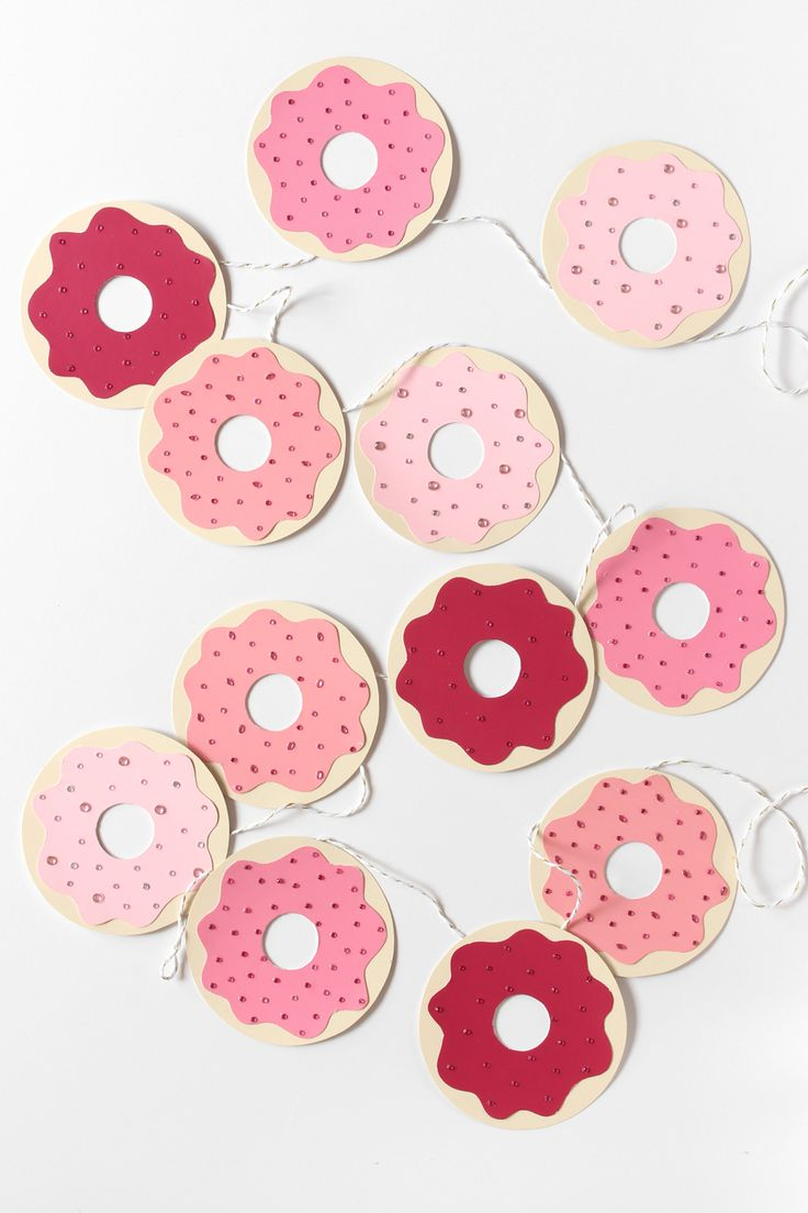 DIY Donut Garland Tutorial with FREE Templates