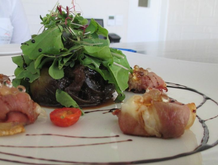 Goat's cheese wrapped in Serrano ham with homemade fig chutney. #delicious #goatscheese #fig #Cloudsestate http://cloudsestate.com/home-8.html