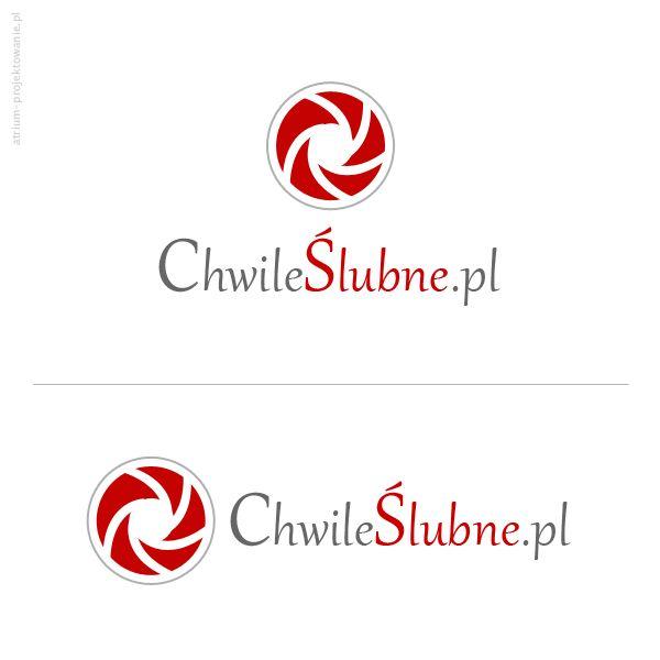 Projekt logotypu oraz podstawa identyfikacji wizualnej dla http://chwileslubne.pl