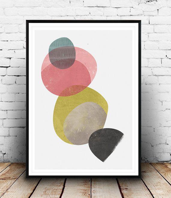 Watercolor abstract minimalist print Watercolor wall by Wallzilla