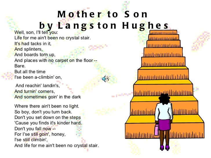 mother to son by langston hughes -