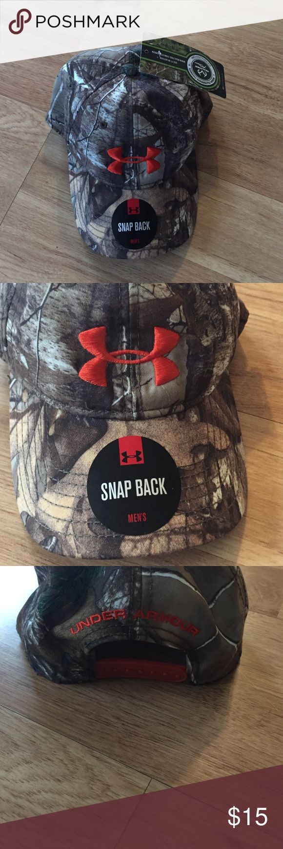 Brand new with tags Under Armour camouflage hat✨ Brand new with tags Under Armour camouflage hat✨ perfect condition.. under Armour/ real tree Under Armour Accessories Hats