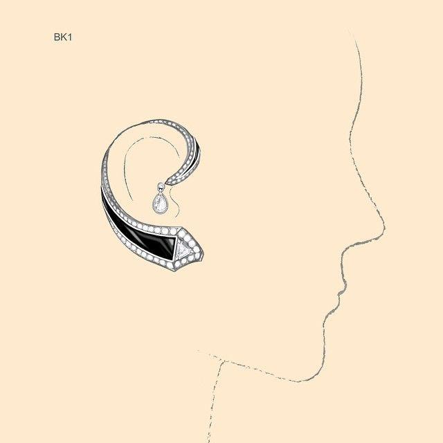 New Cool Earring #annahuhautejoaillerie #earring#fashion#vogue#harpersbazaar…