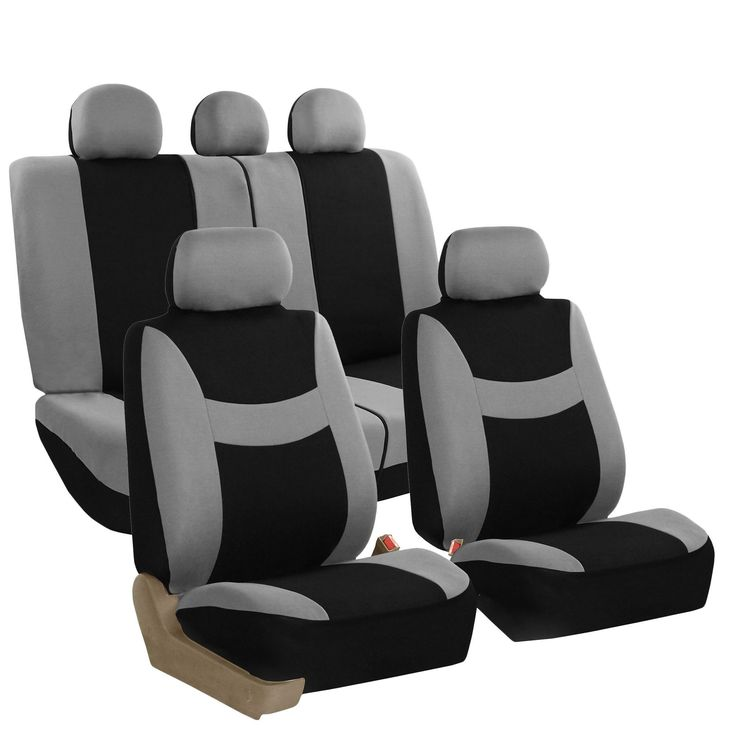 FH Group Grey & Combo Pack Light & Breezy Fabric Auto Seat Covers