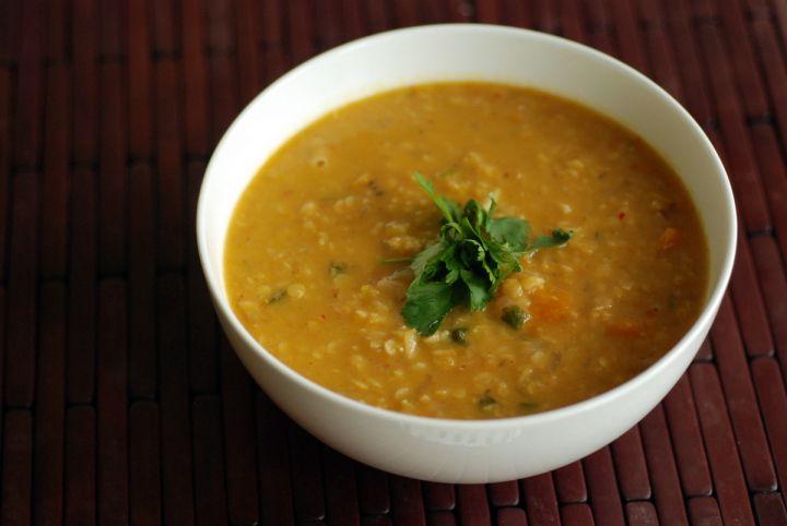 Thai-Spiced Kabocha Lentil Soup