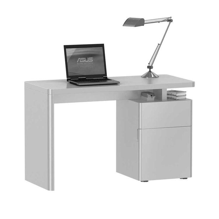 Hochglanz Schreibtisch in Weiß 120 cm breit Jetzt bestellen unter: https://moebel.ladendirekt.de/buero/tische/schreibtische/?uid=83c0d4e1-d79d-5b42-926a-c65990c8d18b&utm_source=pinterest&utm_medium=pin&utm_campaign=boards #tischgestell #computerschreibtisch #tische #schülerschreibtisch #computer #buero #jugendschreibtisch #edv #tisch #computertisch #schreibtisch #büroschreibtisch #schreibtische