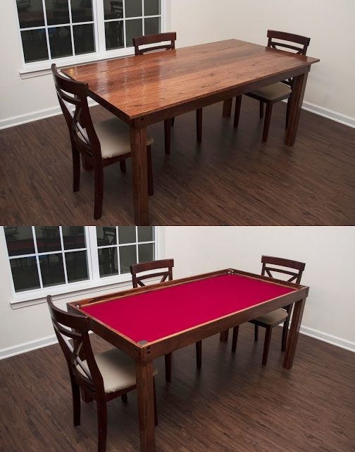 My wife and I have really gotten into playing boardgames as of late (mostly thanks to Geek & Sundry's Tabletop http://tabletop.geekandsundry.com/ ), so I wanted a nice gaming table to play on that wouldn't just be a whole separate table taking up room in the house.