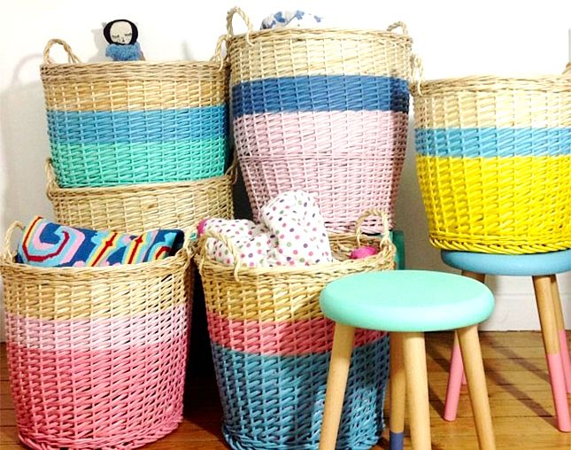 11 DIY Creative Ways to Use Storage Baskets. Ways to up cycle the baskets you may already have or hit up the dollar store for affordable baskets and start DIYing