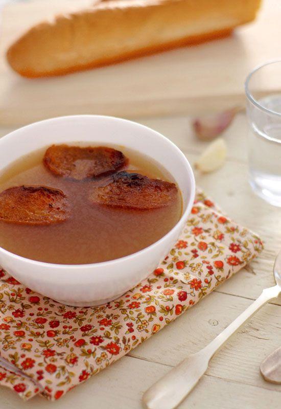 Receta 119: Sopa de ajo sencilla » 1080 Fotos de cocina
