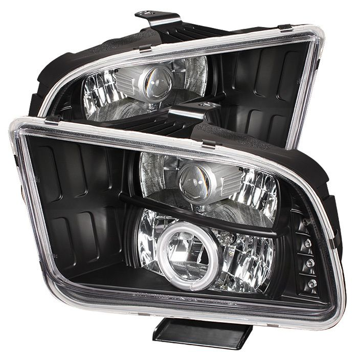 Pro Yd Fm05 Ccfl Bk In 2020 Ford Mustang Projector Headlights Led Halos