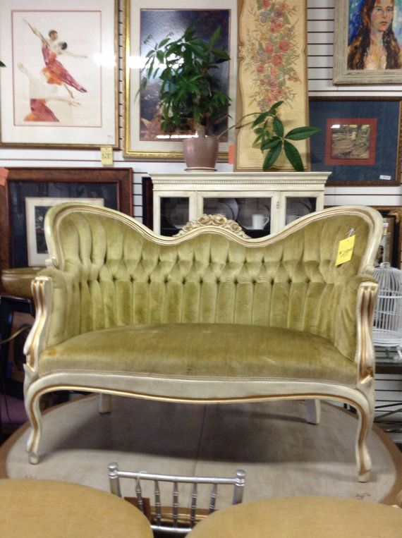 french provincial regency setee by on etsy
