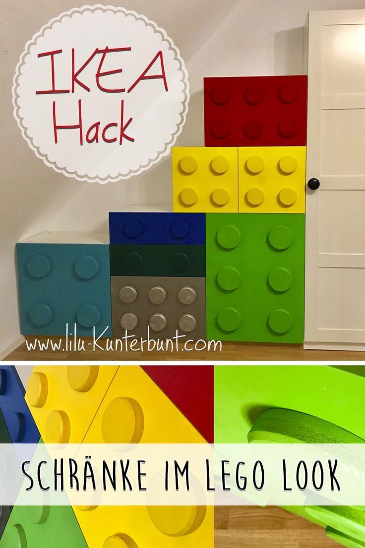 Schränke im Lego-Look fürs Kinderzimmer. IKEA Hack mit Anleitung  zum nachmachen. Ein einzigartiges DIY Projekt