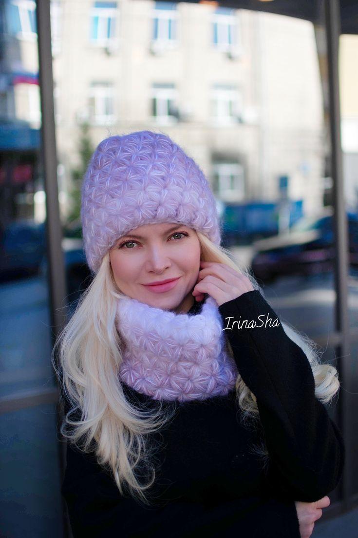 Hats, Мохеровая Шапка Звздочка Крючком, Мастер Класс По -1194