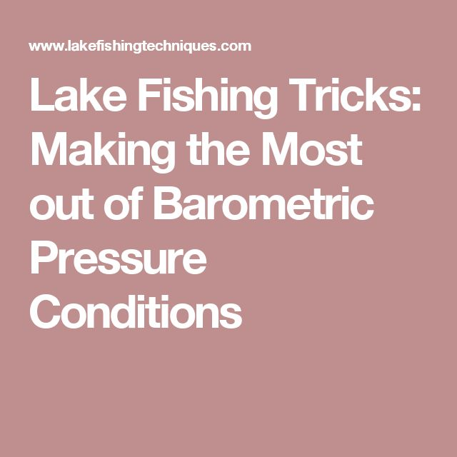 Best 25 fishing tricks ideas on pinterest fishing for Barometric pressure forecast for fishing