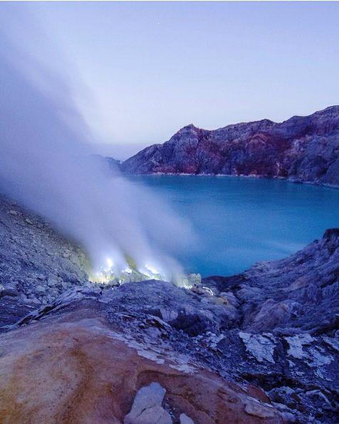 Blue Fire Crater, Kawah Ijen Volcano, Indonesia
