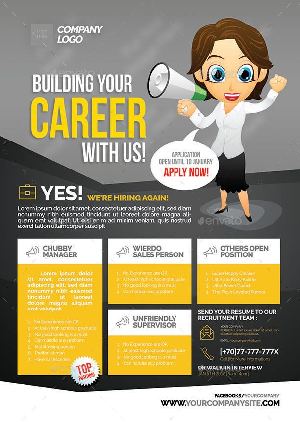 Image result for job flyer Desain