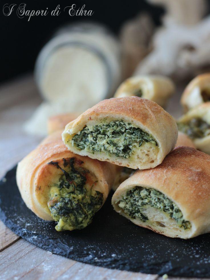 Rotolo di pizza farcito con ricotta e spinaci - I Sapori di Ethra
