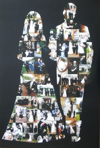 wedding photo collage poster - great gift for a newlywed couple!