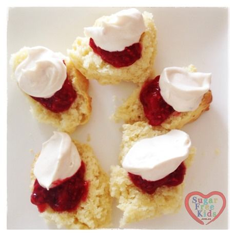 Easy, healthy Scone recipe (sugar free, wheat free, egg free) made with Spelt and Soda, a healthier version of the Lemonade scone recipe - Sugar Free Kids