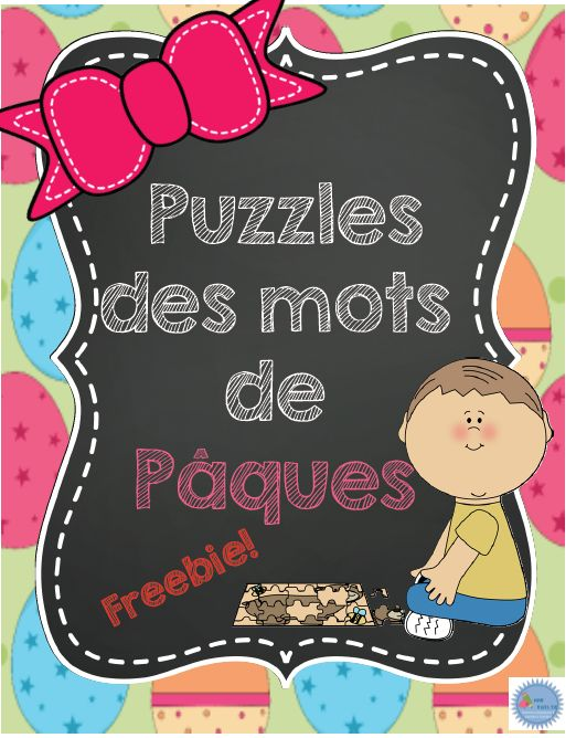 Freebie: french easter words puzzle